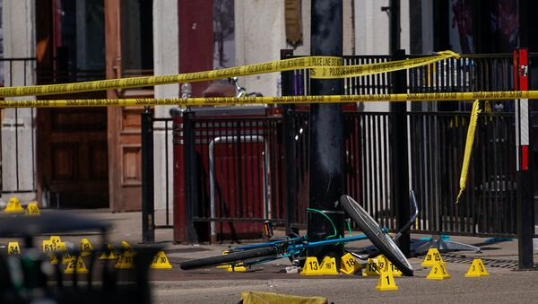 Lugar del tiroteo en Dayton, Ohio - Sputnik Mundo