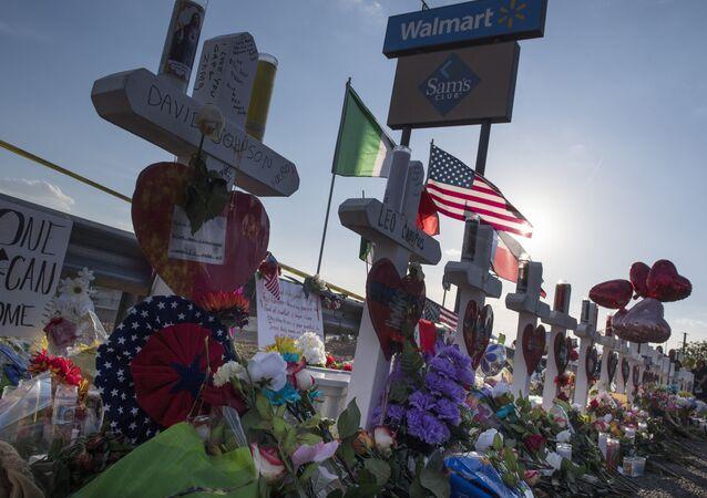 Homenaje a las víctimas en el tiroteo masivo en El Paso, EEUU