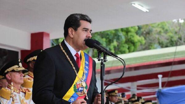 Nicolás Maduro, presidente venezolano, durante la Celebración del Día de la Independencia de Venezuela - Sputnik Mundo