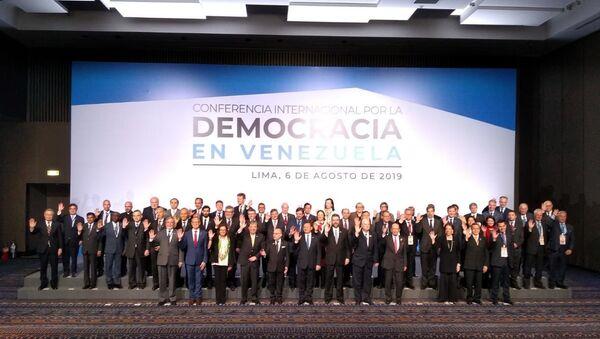 Conferencia Internacional por la Democracia en Venezuela en Lima - Sputnik Mundo