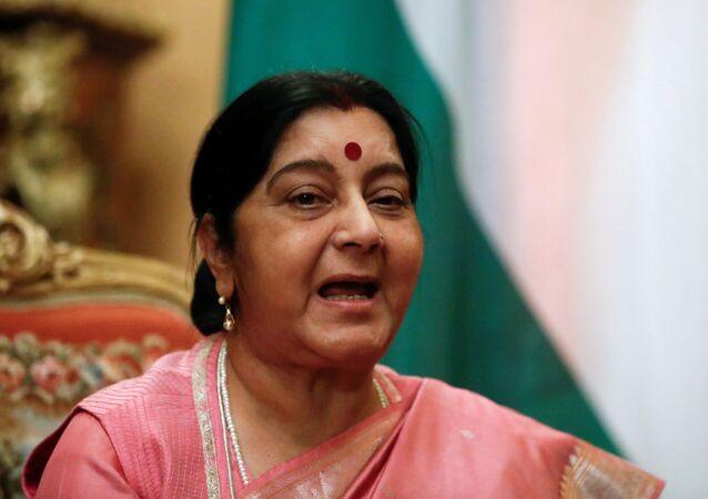 Sushma Swaraj, exministra de Exteriores de la India