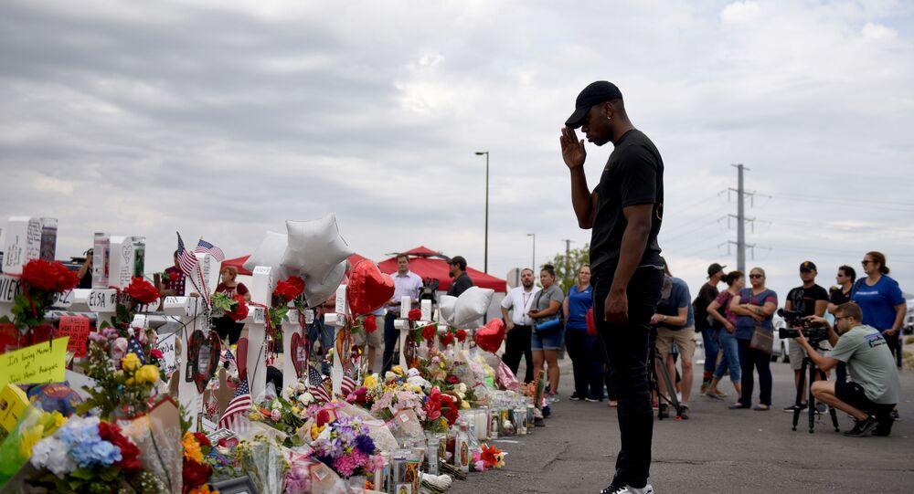 Homenaje a las victimas del tiroteo en El Paso, EEUU