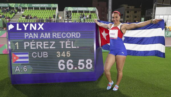 Yaimé Pérez, atleta cubana - Sputnik Mundo