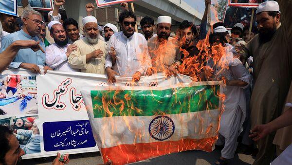 Protesta contra La India en Pakistán (archivo) - Sputnik Mundo