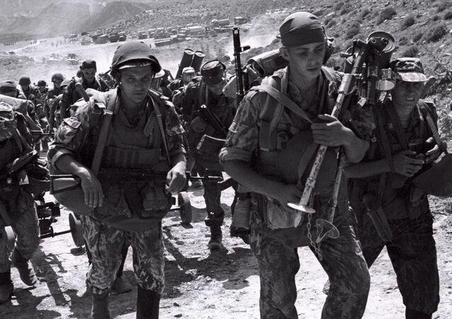 Soldados rusos en Daguestán (archivo)