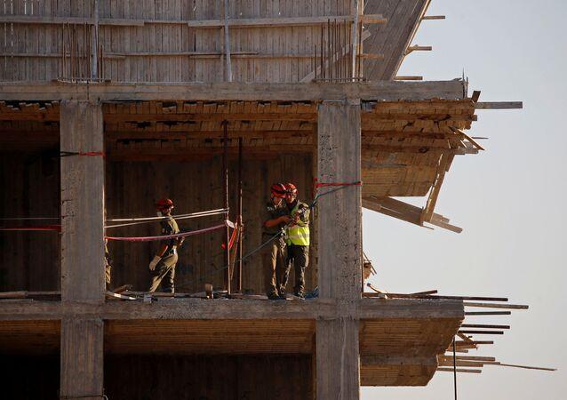 Construcción de viviendas en Cisjordania