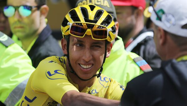 Egan Bernal, ciclista colombiano - Sputnik Mundo