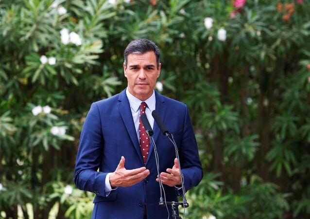 Pedro Sánchez, presidente en funciones del Gobierno de España