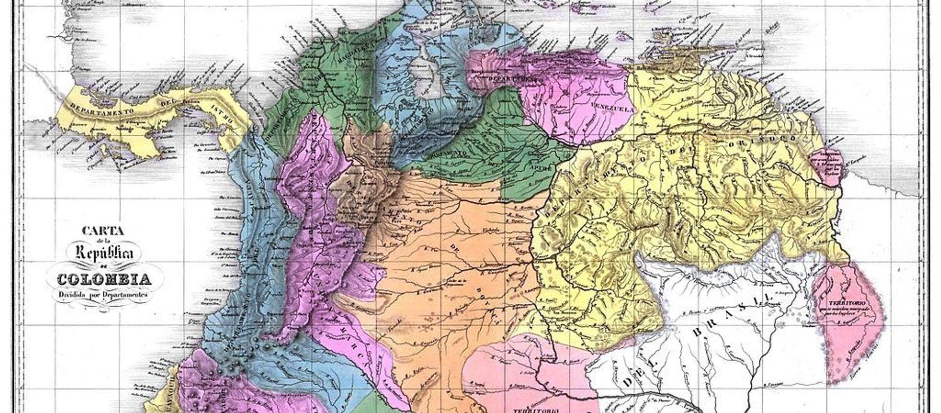 Mapa de la Gran Colombia en 1824 - Sputnik Mundo, 1920, 05.08.2020