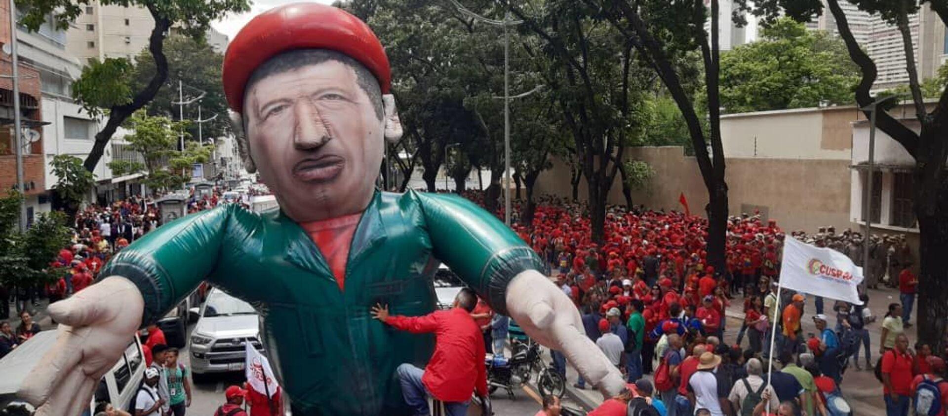 Los venezolanos salen a las calles para protestar contra el bloqueo económico - Sputnik Mundo, 1920, 30.12.2020