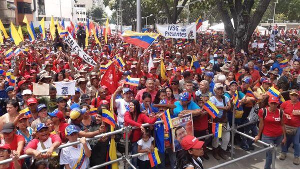 Los venezolanos salen a las calles para protestar contra el bloqueo económico - Sputnik Mundo