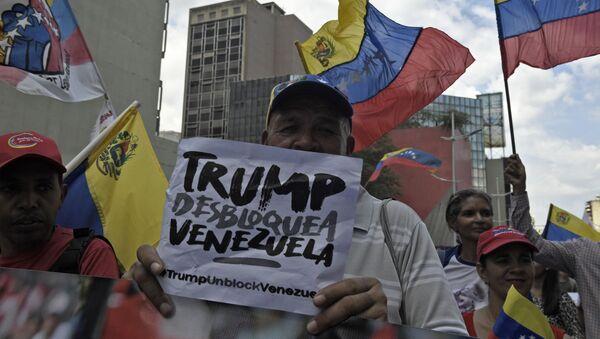 Una protesta progubernamental en Venezuela - Sputnik Mundo