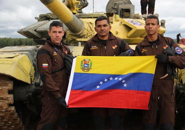 Delegación venezolana participa en el biatlón de tanques en los Juegos Militares Internacionales Army 2019
