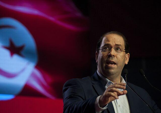 Youssef Chahed, jefe del  de Túnez,
