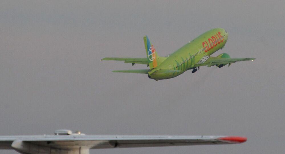Un avión de la aerolínea Globus