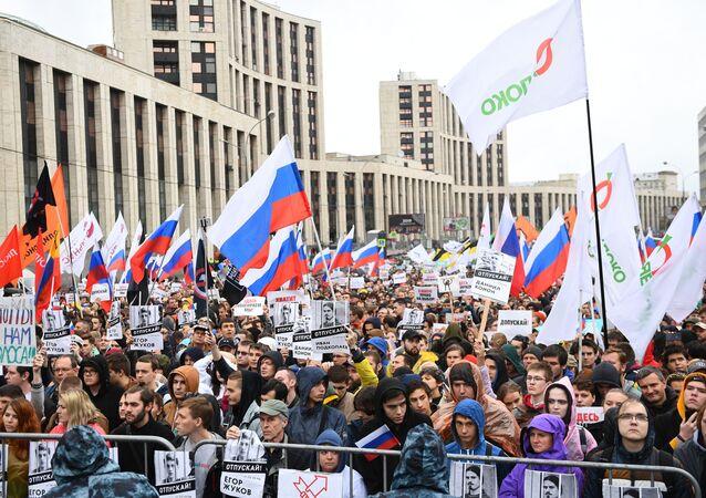 Manifestación de la oposición en Moscú