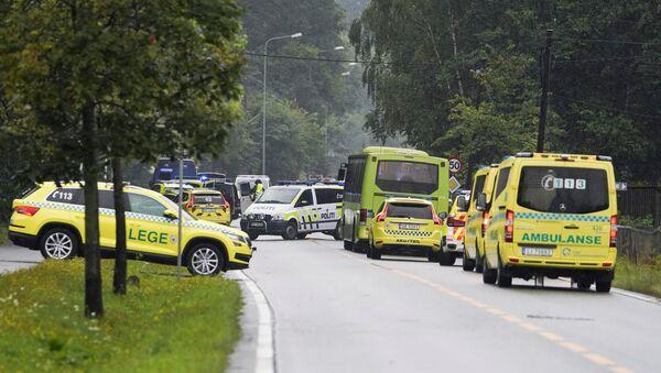 La ambulancia noruega cerca del lugar de los hechos - Sputnik Mundo