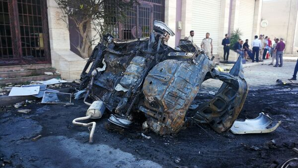 Lugar del atentado en Bengasi - Sputnik Mundo
