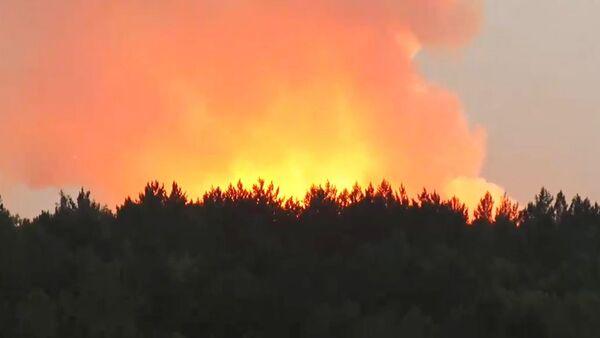 Incendio en un almacén de municiones en la provincia rusa de Krasnoyarsk (Siberia) - Sputnik Mundo