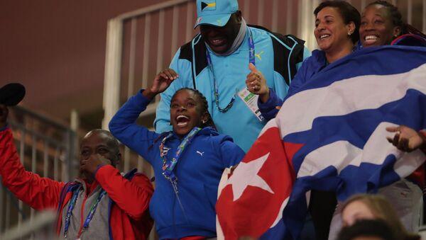 Hinchas cubanos en los XVIII Juegos Panamericanos - Sputnik Mundo