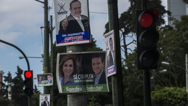Carteles electorales en Guatemala - Sputnik Mundo