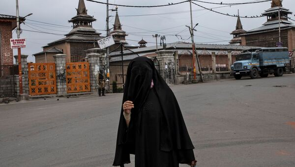 Una mujer musulmana en Cachemira - Sputnik Mundo