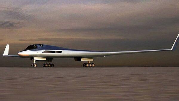 Una imagen digital del bombardero ruso PAK DA - Sputnik Mundo