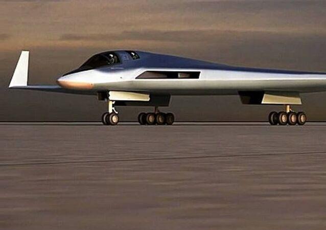 Una imagen digital del bombardero ruso PAK DA