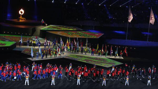 Ceremonia de Clausura de los XVIII Juegos Panamericanos en Lima, Perú - Sputnik Mundo