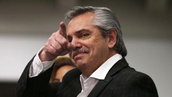 Alberto Fernández, candidato a la presidencia de Argentina (archivo) - Sputnik Mundo