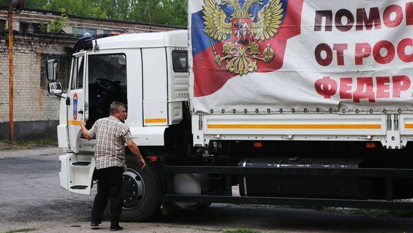 La llegada de un convoy humanitario ruso a Donetsk - Sputnik Mundo
