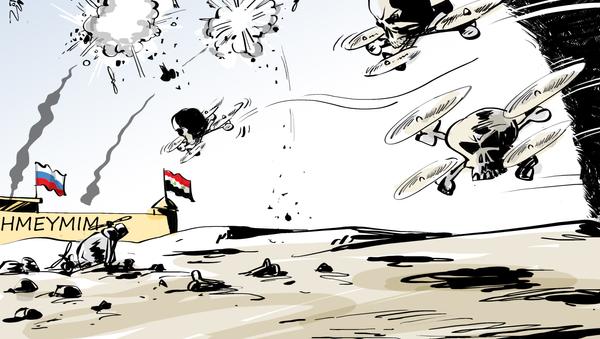 Los drones siguen atacando sin éxito la base rusa en Siria - Sputnik Mundo
