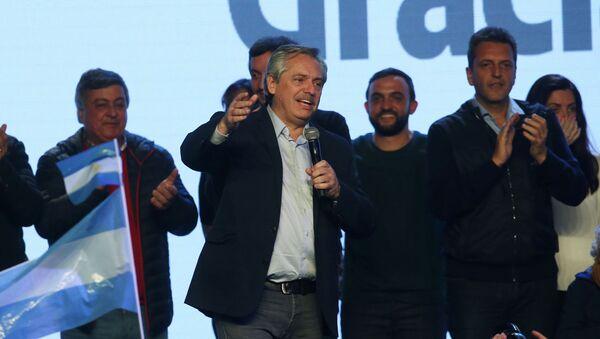 Candidato presidencial del Partido Frente de Todos, Alberto Fernández - Sputnik Mundo