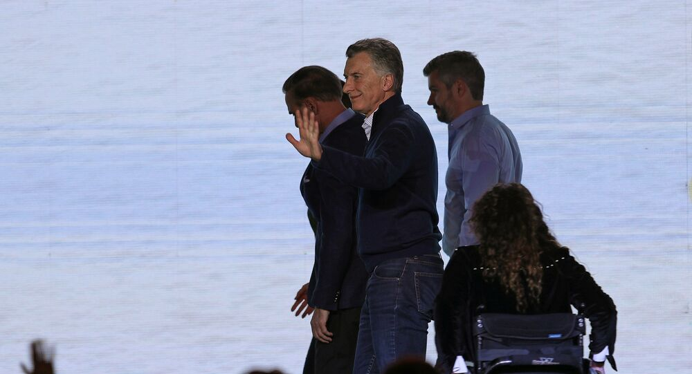 Mauricio Macri y su equipo se retiran luego de reconocer la derrota en las PASO argentinas
