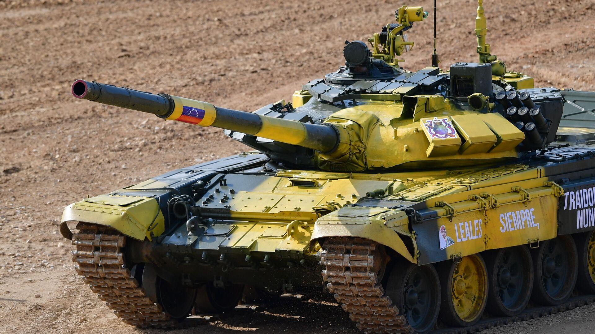 Tanque T-72B3 venezolano en los Army Games 2019 - Sputnik Mundo, 1920, 08.08.2021