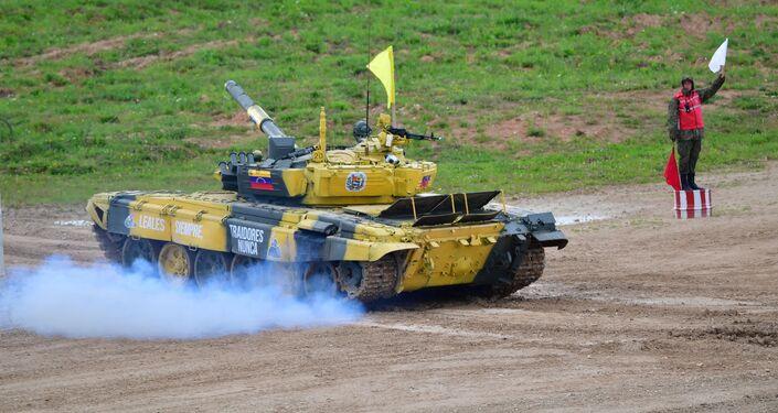 Tanque T-72B3 venezolano en los Army Games 2019