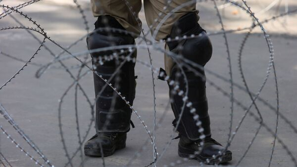 Policía indio en Cachemira - Sputnik Mundo