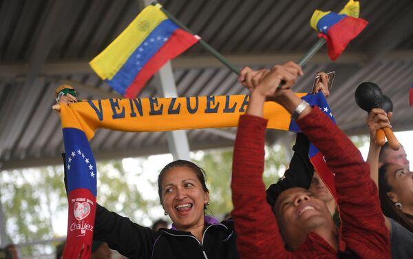 Venezolanos apoyan a su país en los Army Games 2019 - Sputnik Mundo