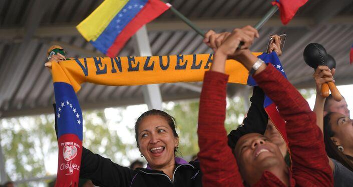 Venezolanos apoyan a su país en los Army Games 2019