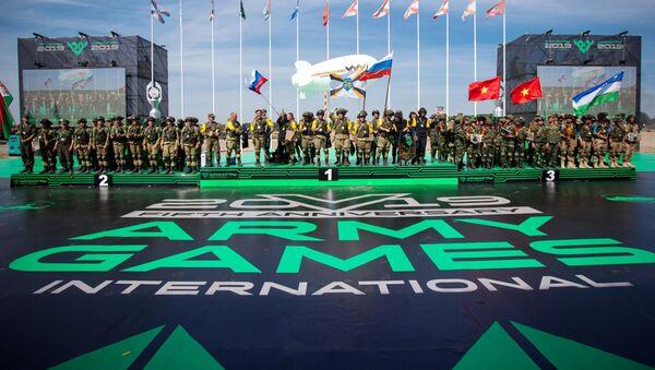 El podio de los juegos Army 2019 - Sputnik Mundo