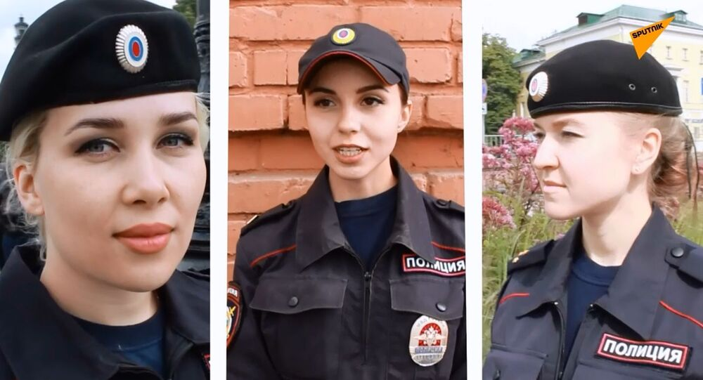 Las hermosas mujeres policías rusas