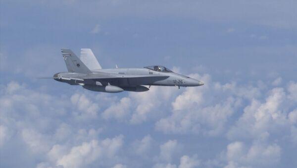 Un Su-27 espanta al F-18 español que se acercó al avión del ministro de Defensa ruso - Sputnik Mundo
