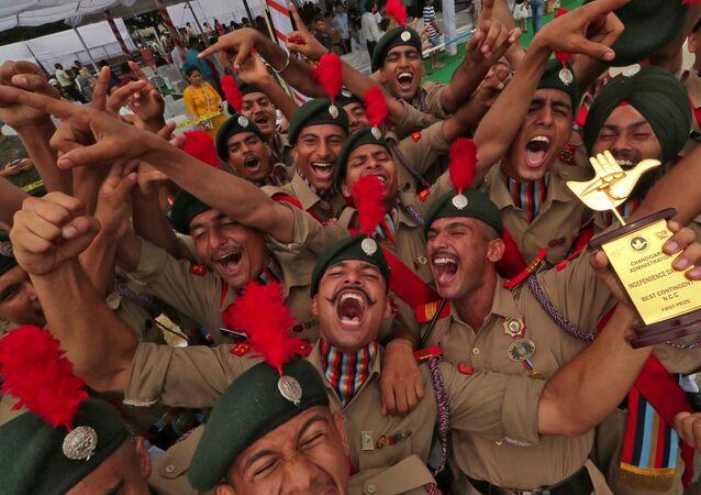 Los cadetes de la India durante el Día de la Independencia