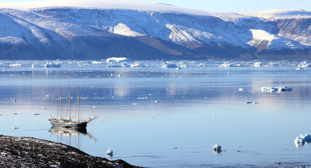 Un barco en Groenlandia