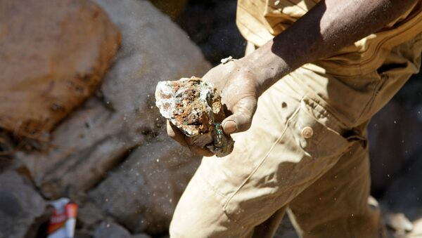 Un minero de cobalto en la República Democrática del Congo - Sputnik Mundo