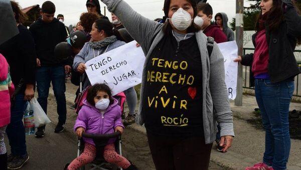 Movilización por la situación medioambiental y de salud de la población de Puchuncaví y Quintero, Chile (2018) - Sputnik Mundo