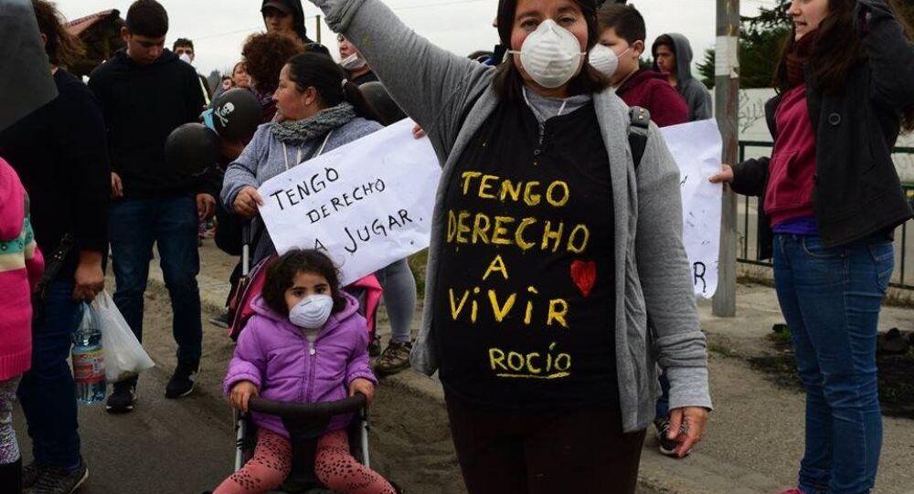 Movilización por la situación medioambiental y de salud de la población de Puchuncaví y Quintero, Chile