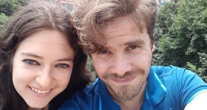 Luis Fader con su esposa Lina