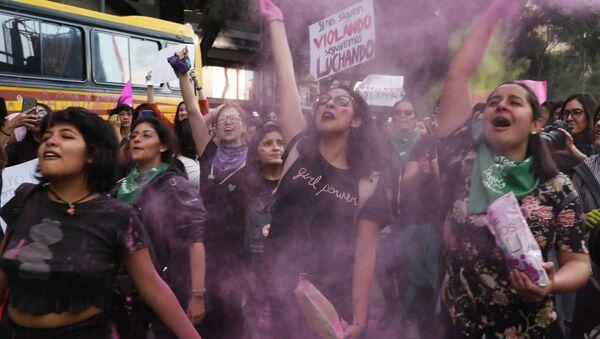 Marcha feminista en Ciudad de México  - Sputnik Mundo