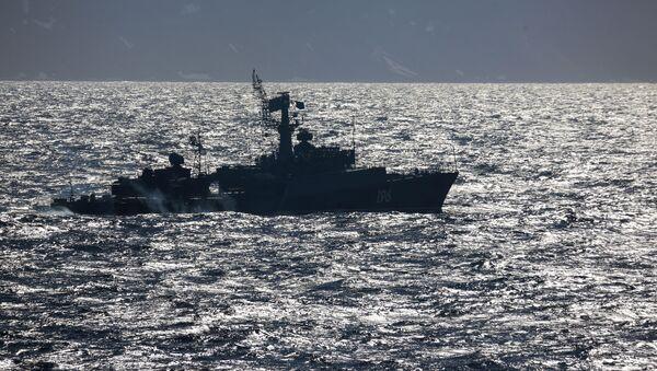 Maniobras de la flota del Norte de Rusia en el mar de Barents (archivo) - Sputnik Mundo